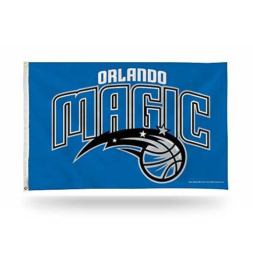 Rico Industries NBA Orlando Magic 3-Foot by 5-Foot Single Sided Banner Flag with Grommets