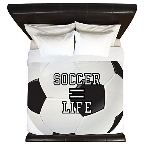 King Duvet Cover Soccer Football Futbol Equals Life by Royal Lion