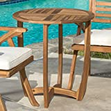 Coronado Outdoor Round Acacia Wood Accent Table by Christopher Knight Home