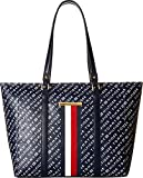 Tommy Hilfiger Women's Dacia Tote Top Zip Navy/White One Size