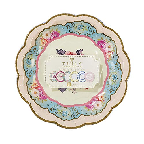 Talking Tables Truly Scrumptious Vintage Floral Small 6.75 Paper Plates in 6 Designs for a Tea Party or Picnic, Multicolor (24 Pack) by Talking Tables (Image #6)