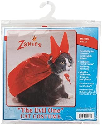 Amazon.com : Zanies Evil One Devil Halloween Cat Costume One Size : Pet Costumes : Pet Supplies