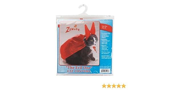 Amazon.com : Zanies Evil One Devil Halloween Cat Costume One Size : Pet Costumes : Pet Supplies