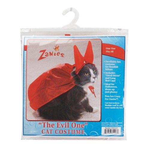 Zanies Evil One Devil Halloween Cat Costume One Size -