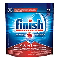 Finish All in one Max, Detergente para lava louças Powerball Super Poderoso com 13 tabletes