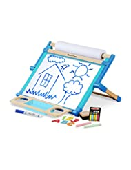 Melissa & Doug Double-Sided Magnetic Tabletop Art Easel - Dry...