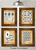 Best Crystal Poker Sets - Original Playing Cards Patent Prints - Set of Review