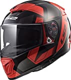LS2 390-1336 Full Face Motorcycle Helmet (Red, XXL)