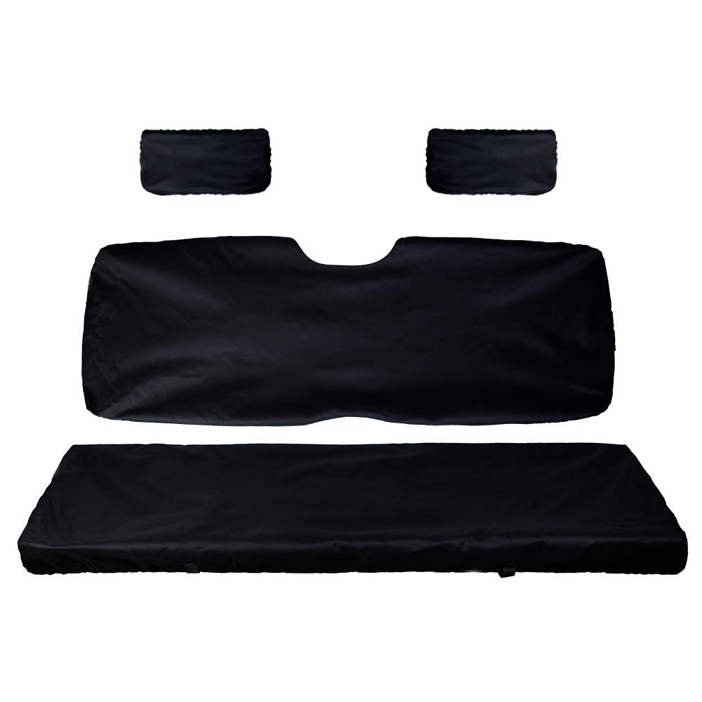 UTV Bench Seat Cover Set with Back Seat Cover for Polaris Ranger 500 700 800 by kemimoto