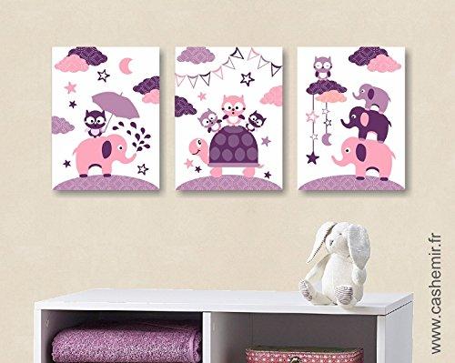 Affiches Décoration Chambre Bébé Fille Illustration Poster Enfant
