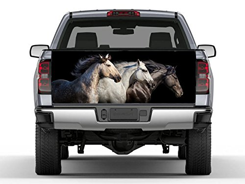 StylewithDecals Horses Full Color Vinyl Sticker Tailgate Wrap. Truck Graphics Decal. Tailgate Wrap Stickers. Made in the USA PN571 by StylewithDecals