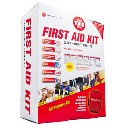 Genuine First Aid 1000 Piece Soft Bag (Unitized Kit Refill)