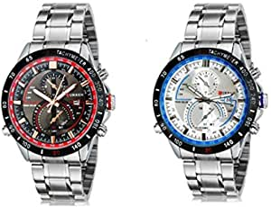 Curren Brand Set Watch For Men - Chronograph 8149 Stainless Steel