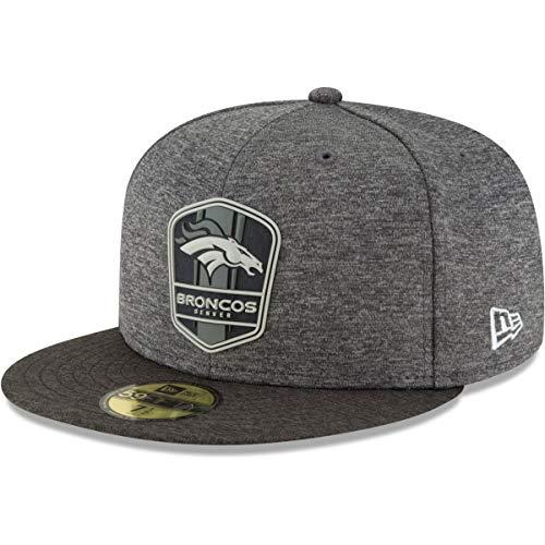 不運コミュニケーション枝ニューエラ (New Era) 59フィフティ キャップ - ブラック サイドライン デンバーブロンコズ (Denver Broncos)