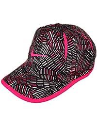 Nike Unisex Featherlight Dri-Fit Baseball Cap - Black/Hyper Pink, 4-6X