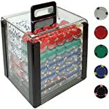 1000 13g poker chips - Trademark Poker 1000 13 Gram Professional Clay Casino Chips with Aluminum Case