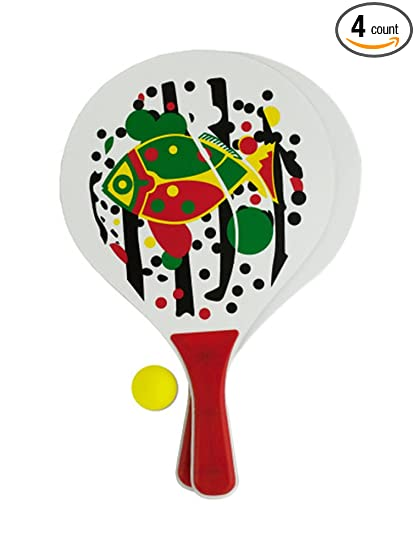 Amazon.com: Paddle Ball Game Set (Available in a pack of 4 ...