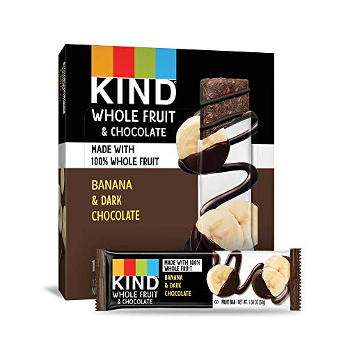 - KIND Whole Fruit Bars, Chocolate Banana, No Sugar Added, Gluten Free, (formally known as Pressed), 1.34oz, 12 Count