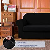subrtex Sofa Cover 2 Piece Stretch Couch Slipcovers Furniture Protector for Armchair Loveseat Washable Soft Jacquard Fabric Anti Slip