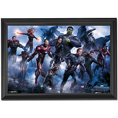- Marvel Avengers Endgame Wall Art Decor Framed Print | 24x36 Premium (Canvas/Painting Like) Textured Poster | Iron Man, Thor & Hulk Infinity War Movie Photo | Memorabilia Gifts for Guys & Girls Bedroom