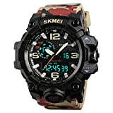 Men's Sports Watches Dual Display Outdoor Military Stopwatch Digital Watch 30M Waterproof Multi-Function Quartz Watch for Men ...