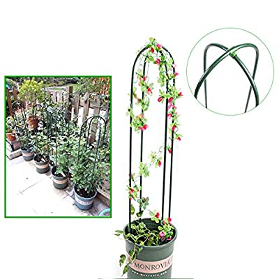 U Style Garden Climbing Trellis Green Color Flower Trellis