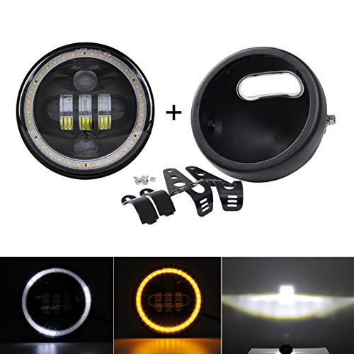 ghts Daymaker housing bucket for Harley Davidson motorcycle with h4 led Daymaker 5