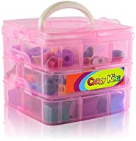 Shopkins Compatible Organizer – Compact Storage Container and Carrying Display Case – 3 Stacked…