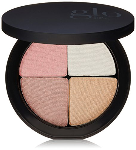 Glo Skin Beauty Shimmer Brick in Gleam | Face Highlighter Palette Set in Pinks | 4 Colors, 2 Shade Options
