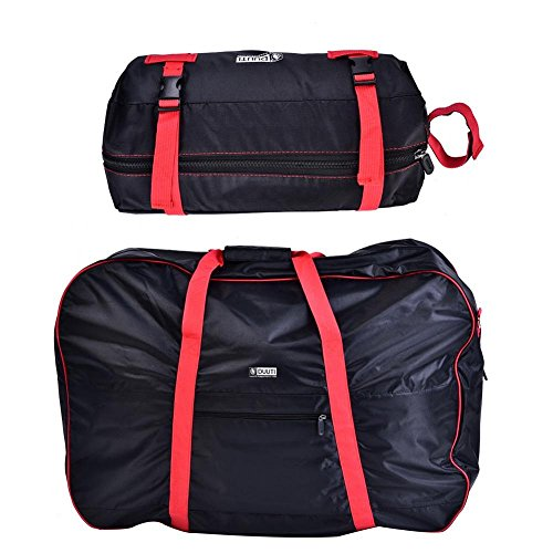 Dilwe Bicycle Carry Bag, Portable Folding 2 Sizes Transport Cover Carrying Case for 14-20in Bikes with Shoulder Strap by Dilwe