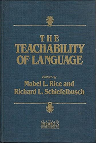 Image result for The Teachability of Language by:M.L. Rice and R.L Schiefelbusch