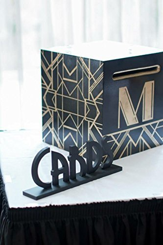 Vintage Wedding Cards Sign for Table - Great Gatsby Style