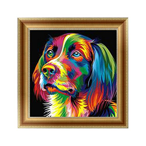 Adarl 5D DIY Diamond Painting Rhinestone Pictures of Crystals Embroidery Kits Arts, Crafts & Sewing Cross Stitch (Color Dog)