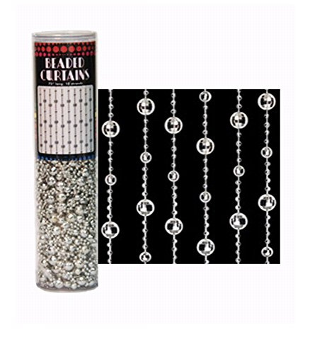 UltraViolet Distribuitng Silver Mirror Ball Beaded Curtain