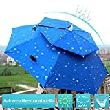 Ownsig Double Layer Fishing Umbrella Hat Cycling Hiking Camping Beach Sunshade Rainy Anti-UV Cap For People Outdoor Equipment