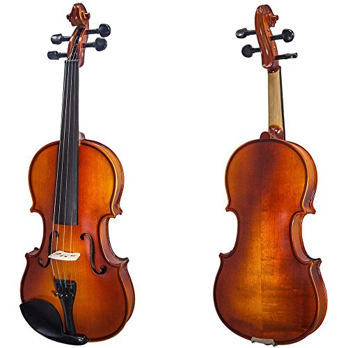 Paititi 3/4 Size Solid Wood Ebony Fitted Violin with Bow Lightweight Case