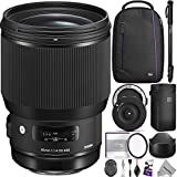 Sigma 85mm f/1.4 DG HSM Art Lens for CANON EF Cameras w/Sigma USB Dock & Advanced Photo and Travel Bundle
