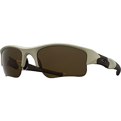 5c58744c5f4fa Amazon.com  Oakley Flak Jacket XLJ Polarized Sunglasses Desert Tan Frame    Bronze Polarized Lens 53-100  Clothing