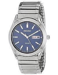 Seiko Men's SNE057 Solar Blue Dial Watch