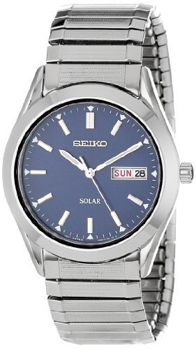 Seiko Men's SNE057 Solar Blue Dial (Solar Watch Blue Dial)