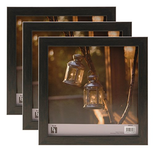 BorderTrends Echo 8x8-Inch Square Wall Photo Frame, Espresso