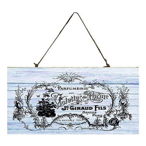 (French Perfume Label Printed Handmade Wood Sign)