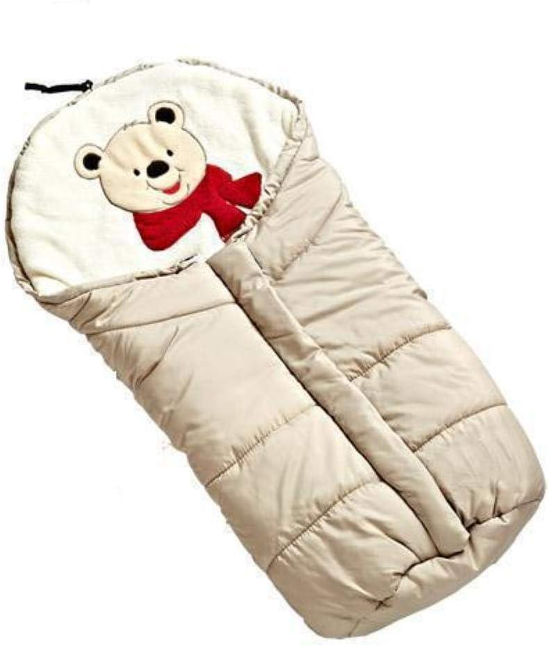 Saco de dormir de bebé de invierno para silla de paseo Saco impermeable Más querido Mantener caliente Bata de dormir para recién nacidos Bebé a prueba de viento Swaddle, Beige: Amazon.es: Hogar