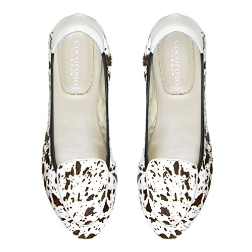 Mujer Ballerinas Zapatos Cuero Plegables Cocorose D Clapham qwBXOn6