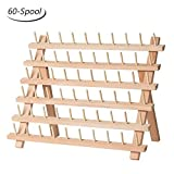 Arts & Crafts : HAITRAL 60-Spool Sewing Thread Rack Wooden Embroidery Thread Organizer