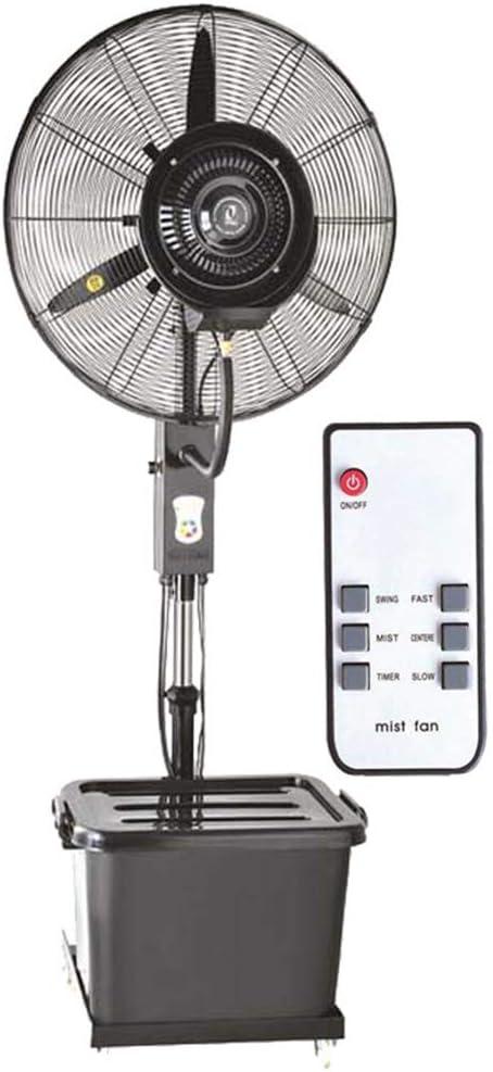 Ventilador Industrial con Control Remoto Enfriamiento Permanente Ventilador de pie Humedecedor de nebulización Ventilador Vertical silencioso Atomización Comercial Altura Ajustable 41L: Amazon.es: Hogar