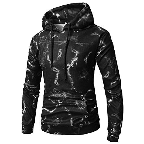 Simayixx Sweatshirts for Men, Men's Hoodies Plus Size 3D Print Shirts Pullover Outdoor Blouses Sports Tracksuits Tunic Tops