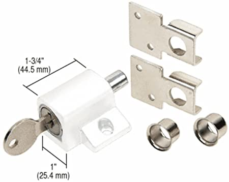 C R  LAURENCE S4360 CRL White Keyed Patio Door Lock: Amazon