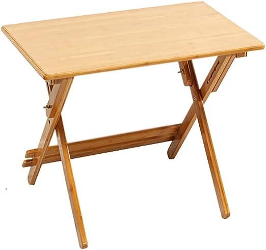 Folding table tu Mesa Plegable Mesa de Estudio Bambú Puede elevar ...