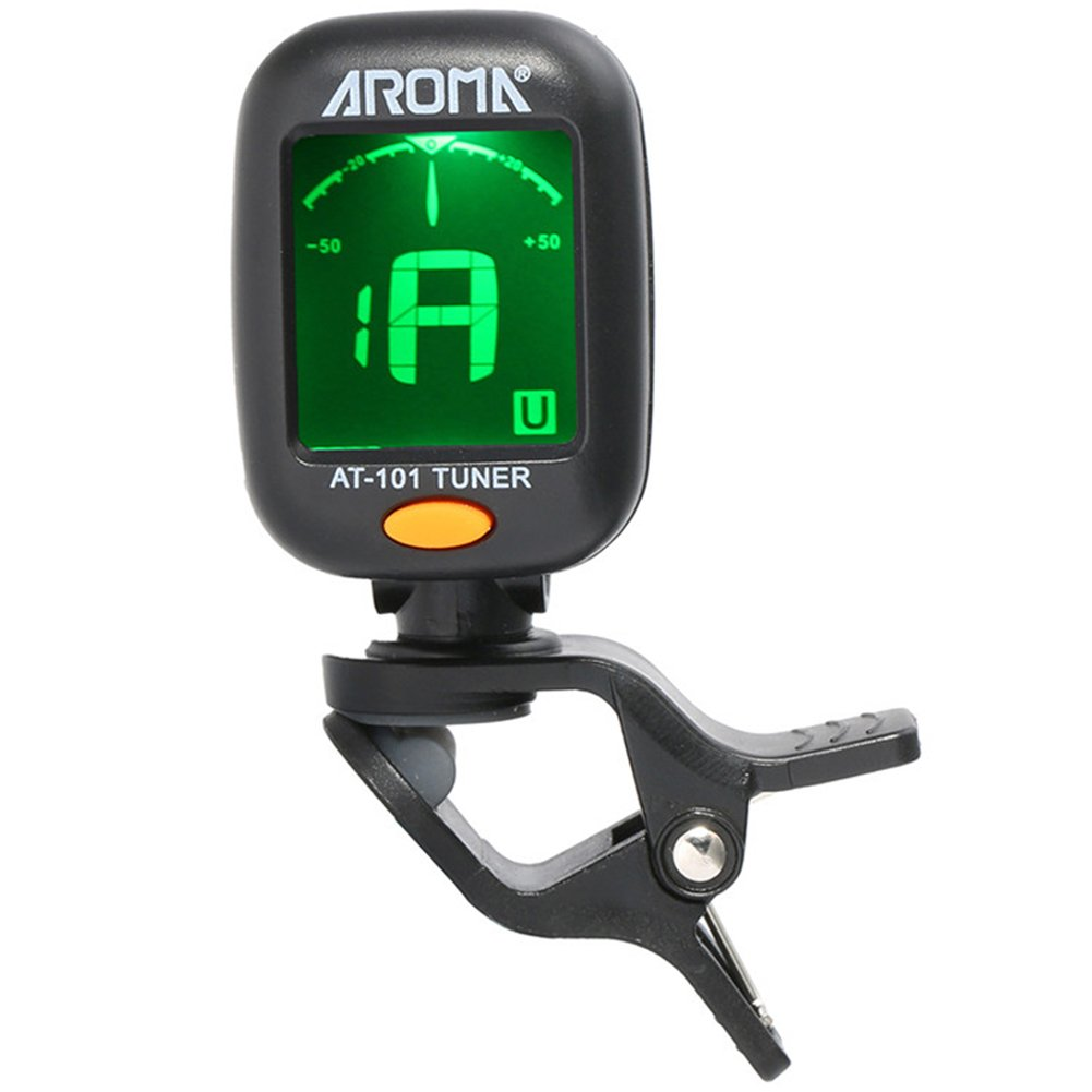 Clip On Guitar Tuner for Instrument Bass Violin Ukulele Tuners Colorful LCD Display + Battery